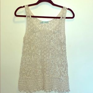 NWOT Maurices Knitted Lace Tank Top